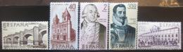 Poštovní známky Španìlsko 1969 Budovatelé Ameriky Mi# 1832-36