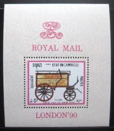Poštovní známka Kambodža 1990 Poštovní dostavník Mi# Block 172