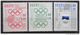 Poštovní známky Estonsko 1992 LOH Barcelona Mi# 180-82