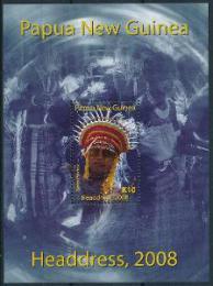 Poštovní známka Papua Nová Guinea 2008 Tradièní úèesy Mi# Block 64