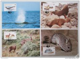 Maxikarty Chile 1984 Zvíøata, WWF 020 Mi# 1066-69