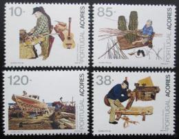 Poštovní známky Azory 1992 Zamìstnání Mi# 426-29