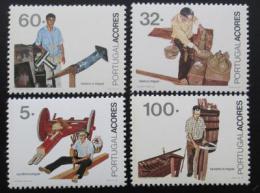 Poštovní známky Azory 1990 Zamìstnání Mi# 411-14