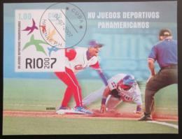 Poštovní známka Kuba 2007 Baseball Mi# Block 228