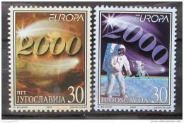 Poštovní známky Jugoslávie 2000 Evropa CEPT Mi# 2975-76