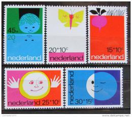 Poštovní známky Nizozemí 1971 Dìtské ilustrace Mi# 969-73
