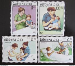 Poštovní známky Laos 1985 Zdraví Mi# 874-77