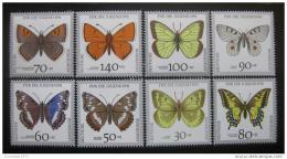 Poštovní známky Nìmecko 1991 Motýli Mi# 1512-19 Kat 12€