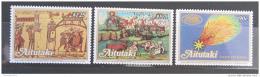Poštovní známky Aitutaki 1986 Halleyova kometa Mi# 575-77