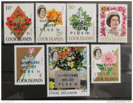Poštovní známky Cookovy ostrovy 1968 Pomoc po hurikánu Mi# 182-88