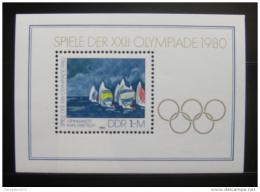 Poštovní známka DDR 1980 LOH Moskva Mi# Block 60