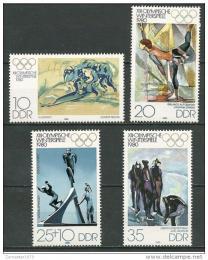 Poštovní známky DDR 1980 ZOH Lake Placid Mi# 2478-81