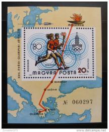 Poštovní známka Maïarsko 1980 LOH Moskva Mi# Block 142