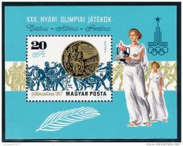 Poštovní známka Maïarsko 1980 LOH Moskva Mi# Block 145