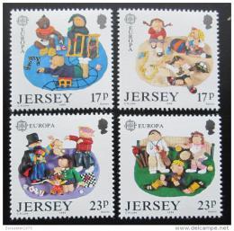Poštovní známky Jersey 1989 Evropa CEPT, dìtské hry Mi# 476-79