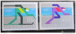 Poštovní známky Jugoslávie 1980 ZOH Lake Placid Mi# 1821-22