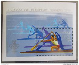 Poštovní známka Polsko 1980 LOH Moskva Mi# Block 81
