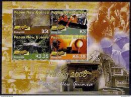 Poštovní známky Papua Nová Guinea 2008 Tìžba Mi# Block 69