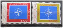 Poštovní známky Portugalsko 1979 Výroèí NATO Mi# 1439-40