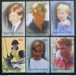 Poštovní známky Papua Nová Guinea 2003 Princ William Mi# 989-94 Kat 7.50€