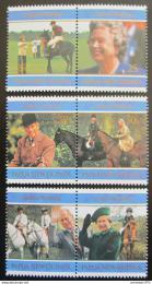 Poštovní známky Papua Nová Guinea 1997 Královna Alžbìta II. Mi# 796-801