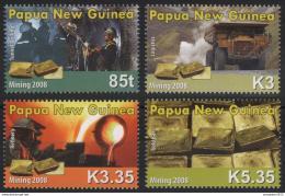 Poštovní známky Papua Nová Guinea 2008 Tìžba zlata Mi# 1350-53