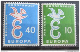 Poštovní známky Nìmecko 1958 Evropa CEPT Mi# 295-96