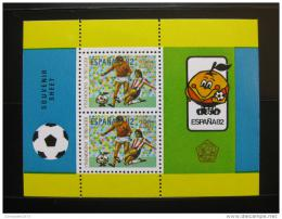 Poštovní známky Indonésie 1982 MS ve fotbale Mi# Block 44