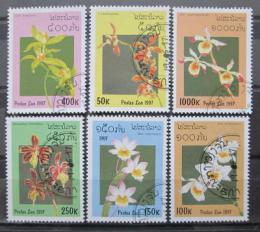 Poštovní známky Laos 1997 Orchideje Mi# 1577-82