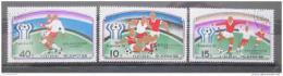 Poštovní známky KLDR 1977 MS ve fotbale Mi# 1676-78
