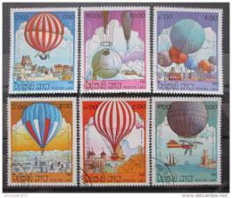Poštovní známky Laos 1983 Létající balóny Mi# 647-52