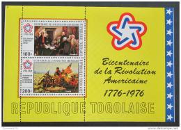 Poštovní známka Togo 1976 Americká revoluce Mi# Block 101 A