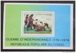 Poštovní známka Kongo 1976 Americká revoluce Mi# Block 10