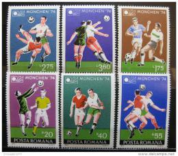 Poštovní známky Rumunsko 1974 MS ve fotbale Mi# 3203-08