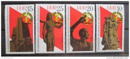 Poštovní známky DDR 1975 Výroèí osvobození Mi# 2038-41