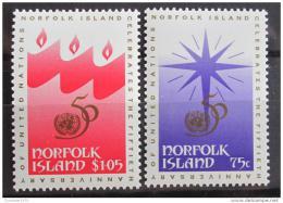 Poštovní známky Norfolk 1995 OSN, 40. výroèí Mi# 601-02