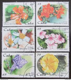 Poštovní známky Kuba 1997 Kvìtiny Karibiku Mi# 4053-58