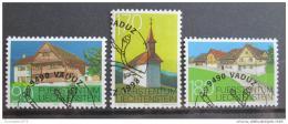 Poštovní známky Lichtenštejnsko 1998 Architektura Mi# 1186-88