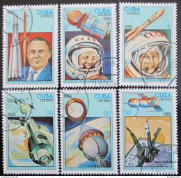 Poštovní známky Kuba 1986 Den kosmonautiky Mi# 3005-10