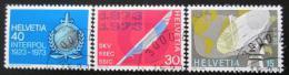 Poštovní známky Švýcarsko 1973 Výroèí a události Mi# 988-90