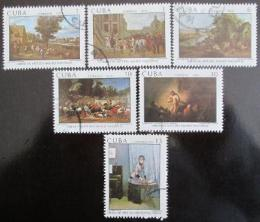 Poštovní známky Kuba 1979 Umìní Mi# 2373-78