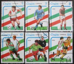 Poštovní známky Kuba 1989 MS ve fotbale Mi# 3271-76