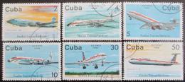 Poštovní známky Kuba 1988 Dopravní letadla Mi# 3184-89