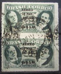 Poštovní známky Brazílie 1942 Prezidenti pøetisk, pár Mi# 628