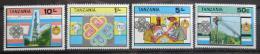 Poštovní známky Tanzánie 1983 Rok komunikace Mi# 229-32