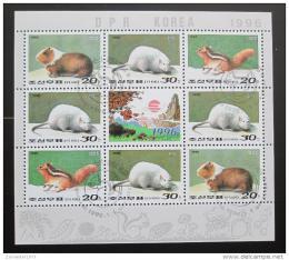 Poštovní známky KLDR 1996 Hlodavci Mi# 3794-96