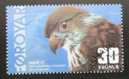 Poštovní známka Faerské ostrovy 2002 Sokol Mi# 435 Kat 8.50€