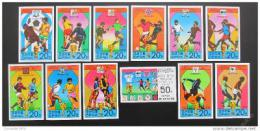 Poštovní známky KLDR 1978 MS ve fotbale neperf. Mi# 1733-44 B