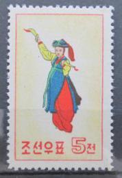Poštovní známka KLDR 1960 Lidový tanec Mi# 213