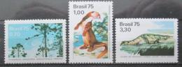 Poštovní známky Brazílie 1975 Ochrana pøírody Mi# 1488-90 Kat 8€